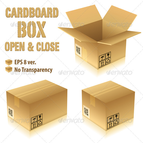 Cardboard Boxes - Man-made Objects Objects