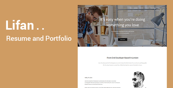 Lifan – Minimal Portfolio and Resume Template