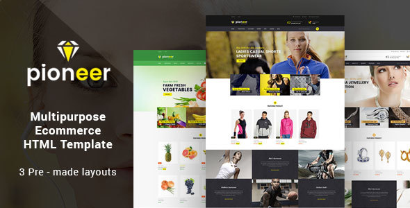 Pioneer – Responsive Multipurpose E-Commerce HTML5 Template