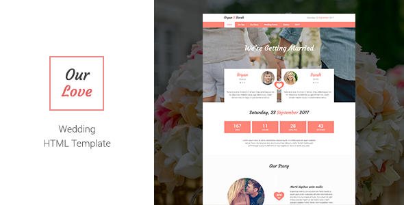 Our Love – Responsive HTML Wedding Template