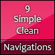 9 Creative, Clean & Simple Navigation Bars. - GraphicRiver Item for Sale