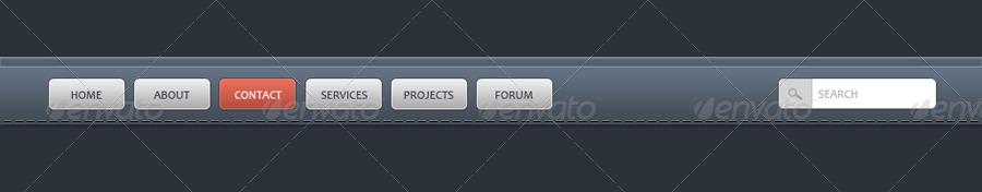 9 Creative, Clean & Simple Navigation Bars.