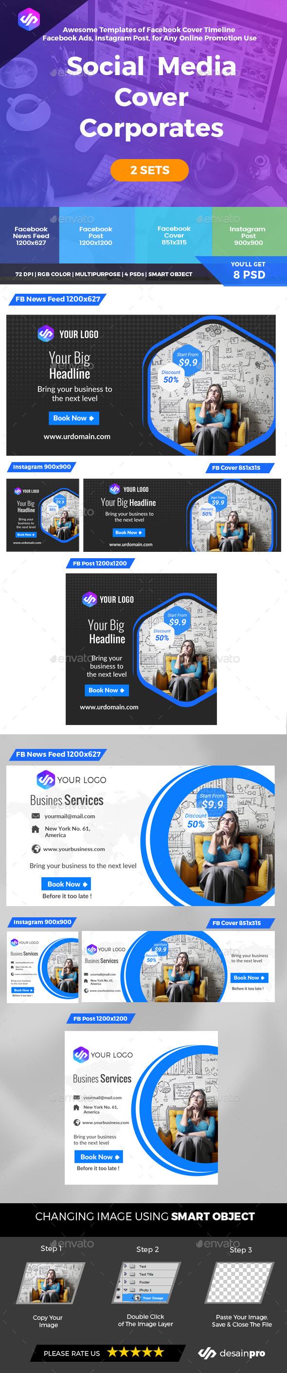 Social Media Corporate - Social Media Web Elements