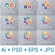 Circles diagram, data Elements For Template infographics 2,3,4,5,6,7,8,9,10 positions. - GraphicRiver Item for Sale