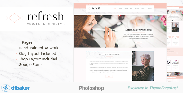 Refresh – Women in Business – Shop & Blog PSD