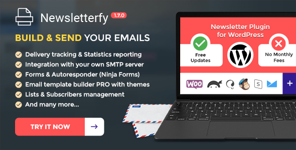 Newsletterfy - Newsletter Email Marketing Sales Conversion Plugin for WordPress - CodeCanyon Item for Sale
