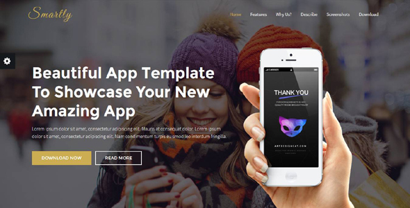 Smartly - App Landing Page