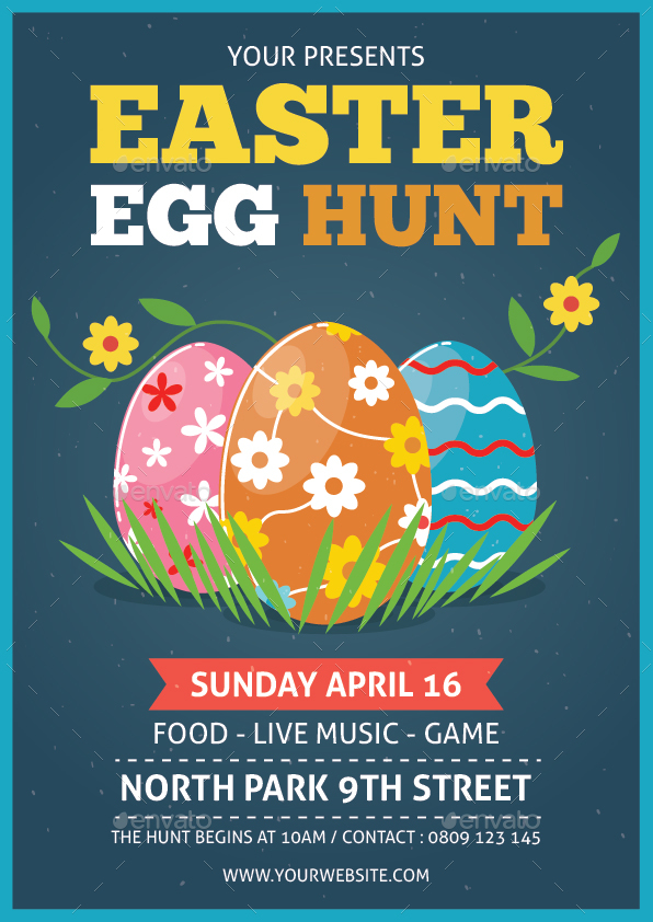 easter egg hunt flyer by bonezboyz9