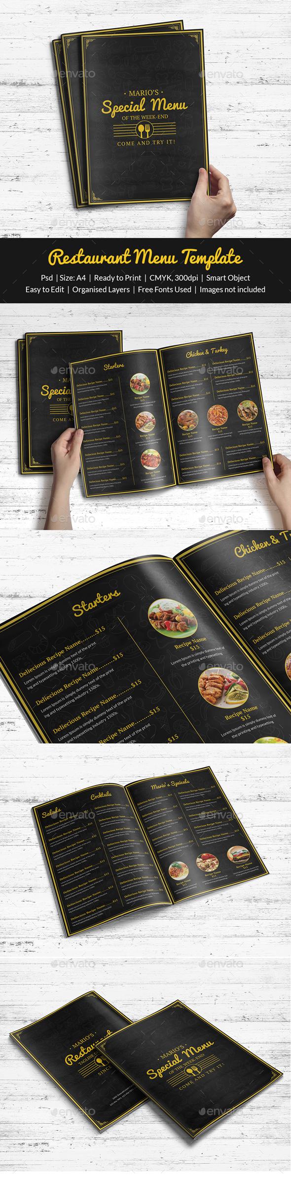 Restaurant Menu - Print Templates