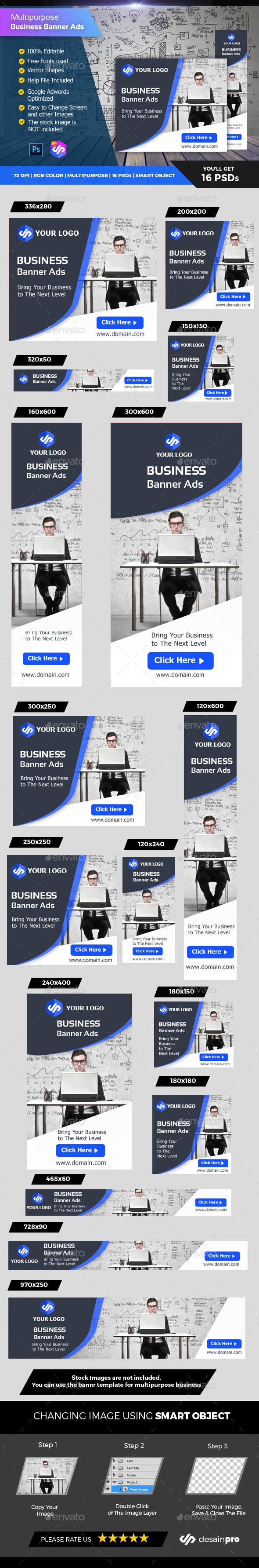 Corporate Business Banner Ads - Banners & Ads Web Elements