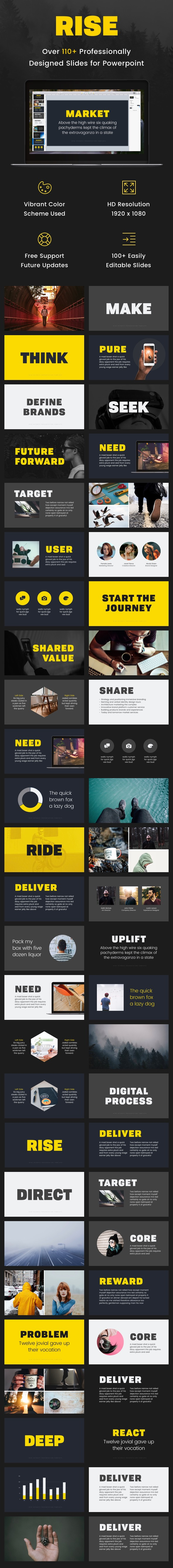 Rise - Powerpoint Presentation Template - PowerPoint Templates Presentation Templates