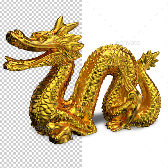 Golden Dragon - Objects 3D Renders