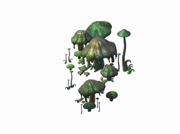Game Model - poison Valley scene - poisonous mushroom - 3DOcean Item for Sale
