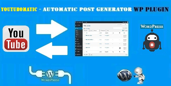 Youtubomatic Automatic Post Generator and YouTube Auto Poster Plugin for WordPress - CodeCanyon Item for Sale