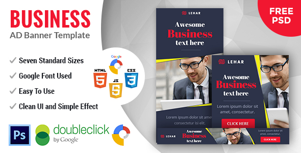 Lehar | Business HTML 5 Animated Google Banner - CodeCanyon Item for Sale