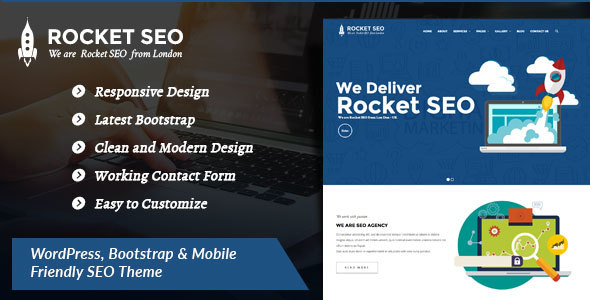 Rocket SEO - Online Marketing, SEO, Social Media Marketing WordPress SEO Theme - Corporate WordPress