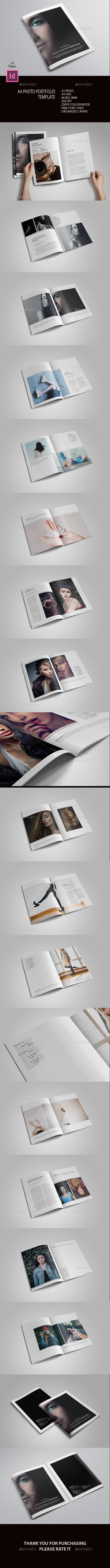 A4 Photo Portfolio Template - Photo Albums Print Templates