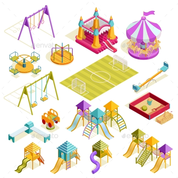 Playground Isometric Collection - Man-made Objects Objects