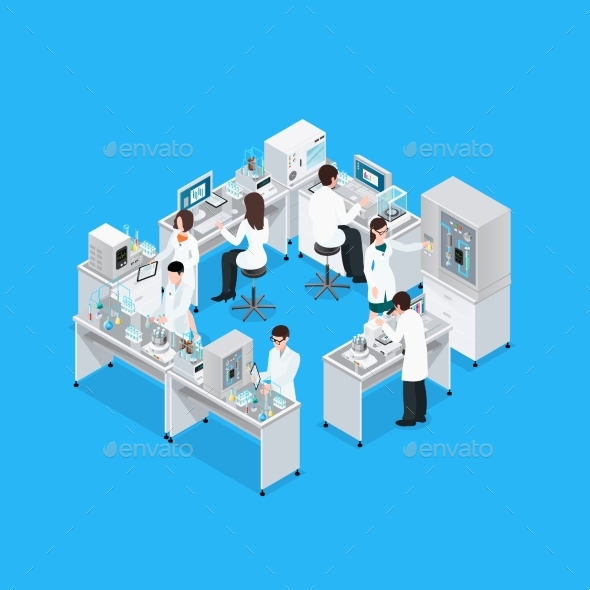 Science Lab Workplace Composition - Miscellaneous Conceptual