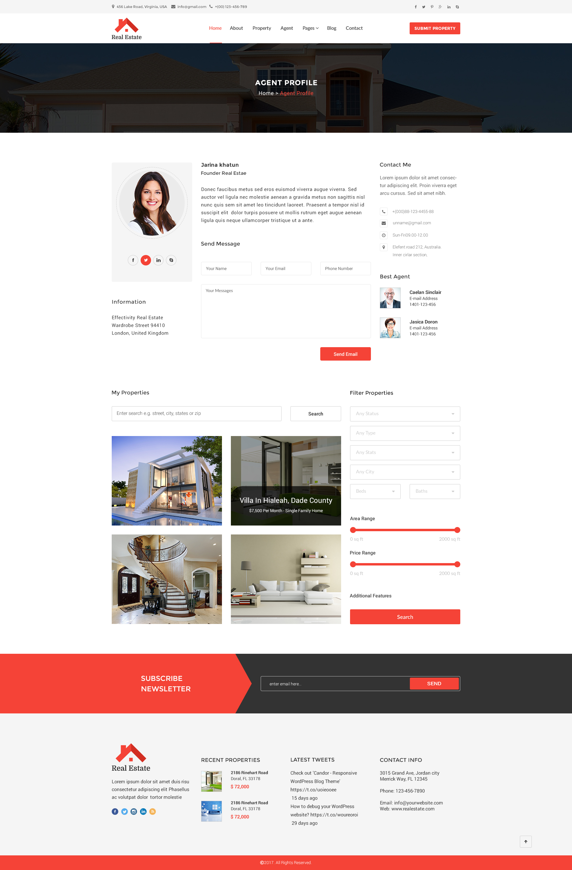 Real Estate Html5 Template By Asianweb Themeforest