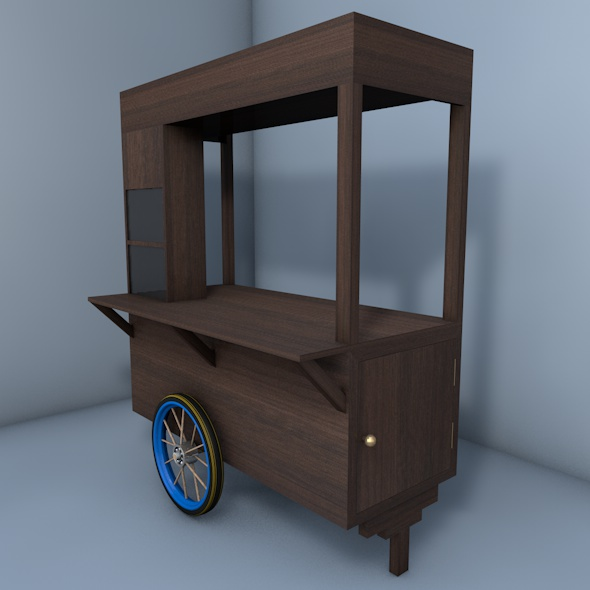 Coffee Cart | Ice Cart | Snack Cart | Wagon - 3DOcean Item for Sale