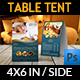 Hotel Table Tent Template Vol.2 - GraphicRiver Item for Sale