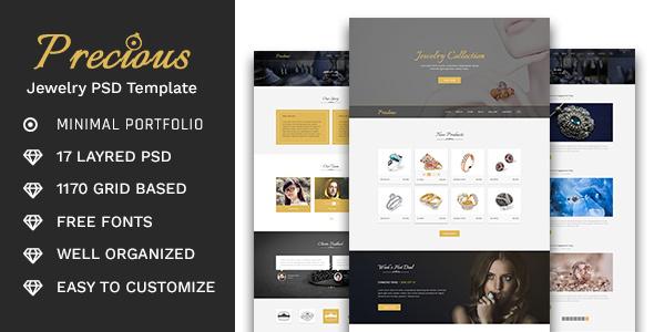 Precious – Jewelry Store PSD Template