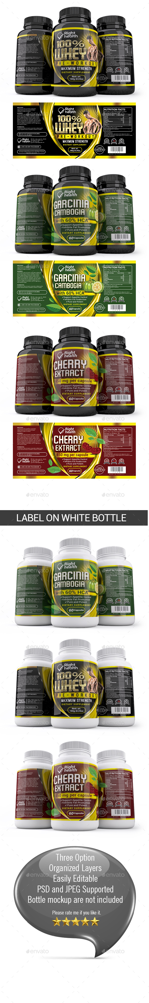 Supplement Label Template 007 - Packaging Print Templates