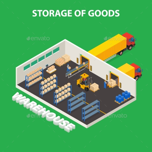 Storage of Goods Design Concept - Industries Business