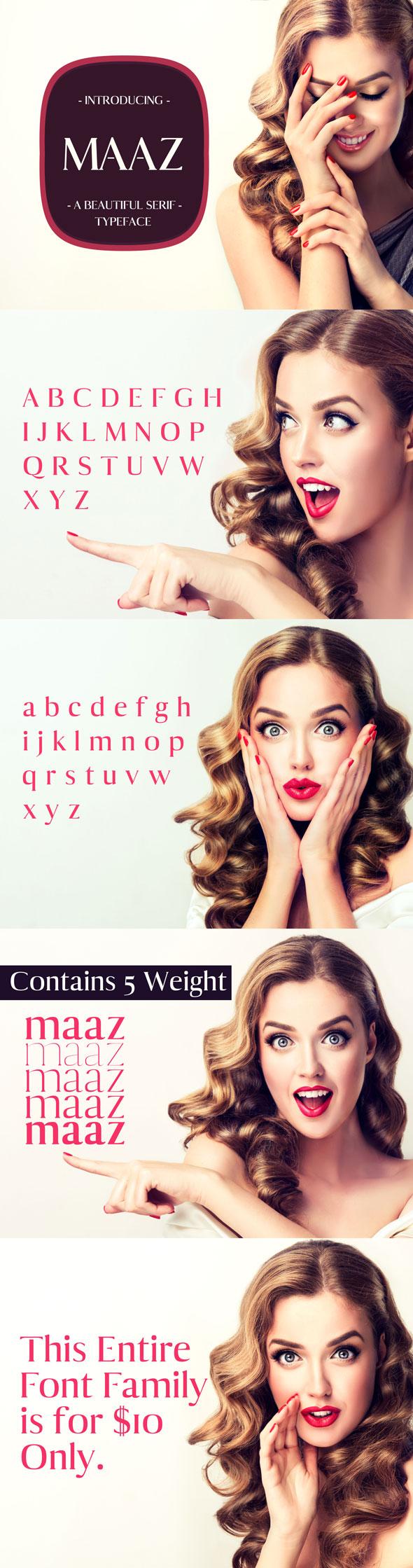 Maaz Serif Typeface - Miscellaneous Serif