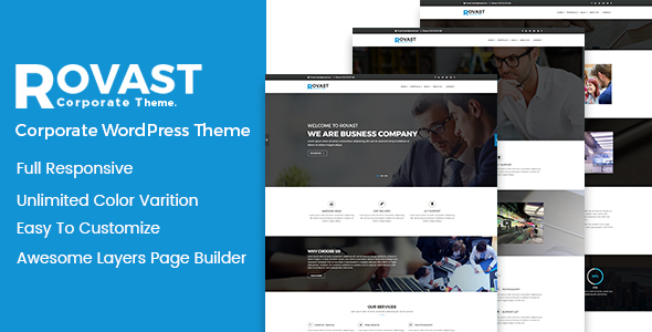 Rovast - Multipurpose Wordpress Theme - Business Corporate