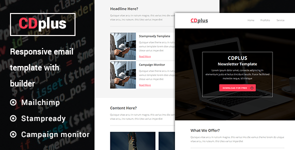 CDplus - Responsive Email template with Stampready builder - e-Flyers Email Templates
