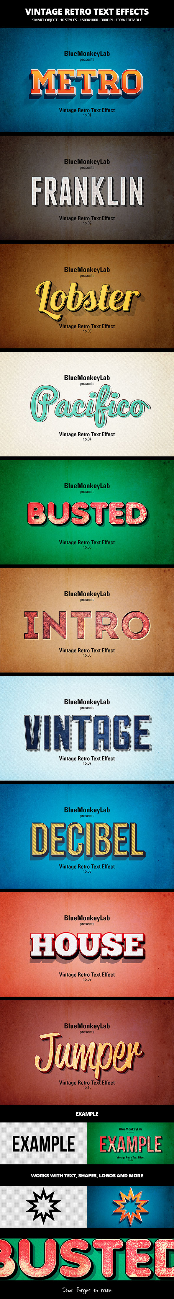 Vintage Retro Text Effects - Text Effects Actions