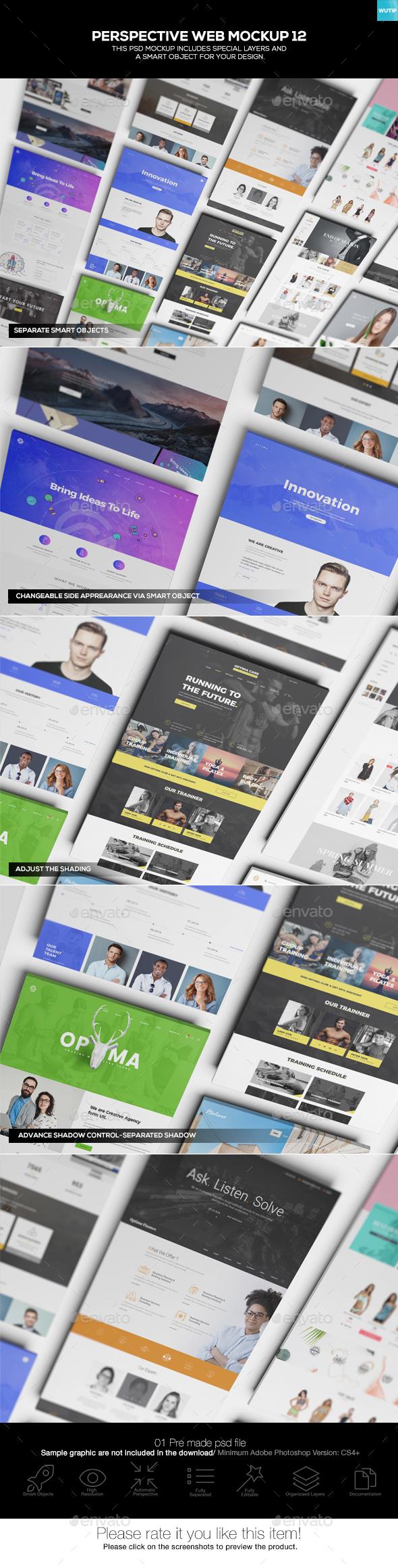 Perspective Web Mockup 12 - Website Displays