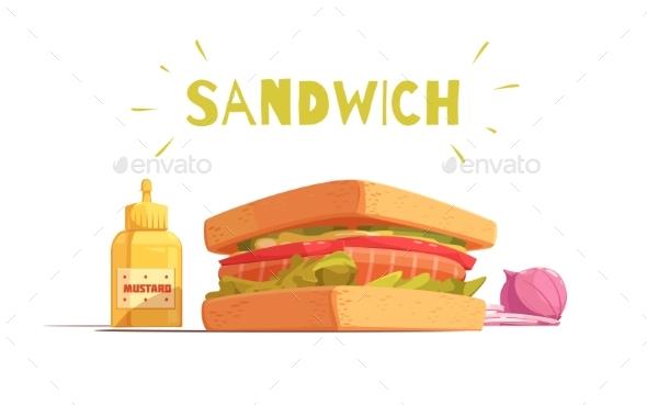 Sandwich Cartoon Design - Food Objects