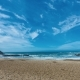 Sandy Beach with Waves and Clouds - VideoHive Item for Sale