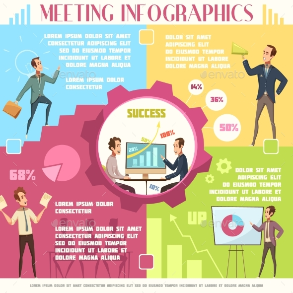 Business Meeting Infographic Set - Concepts Business