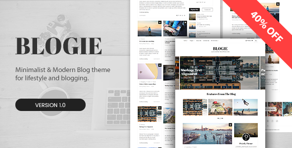 Blogie – Minimalist WordPress Blog theme