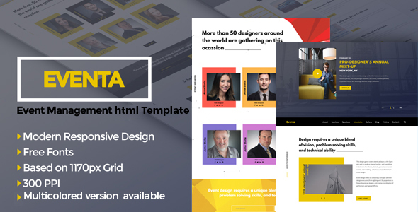 Eventa - One Page Event HTML Template - Events Entertainment