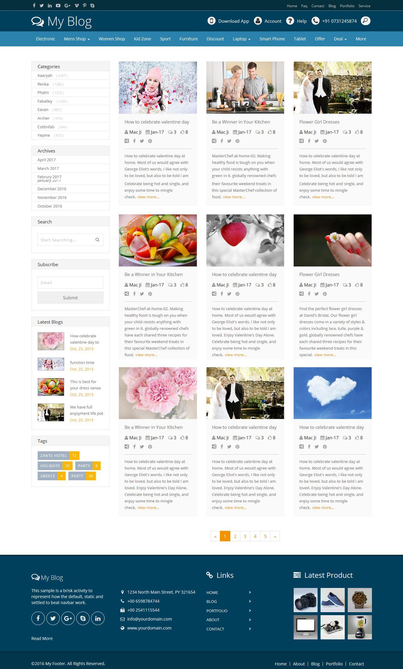 Bootstrap Blog Layout Design