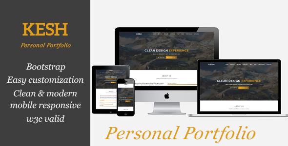 KESH - Personal Portfolio - Portfolio Creative