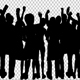 Crowd Of People Dancing Silhouette - VideoHive Item for Sale