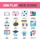 300 Flat Web Icons Bundle - GraphicRiver Item for Sale