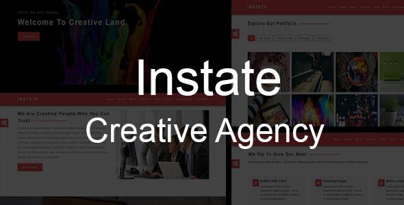 INSTATE-Creative Multipurpose Template - Creative Site Templates