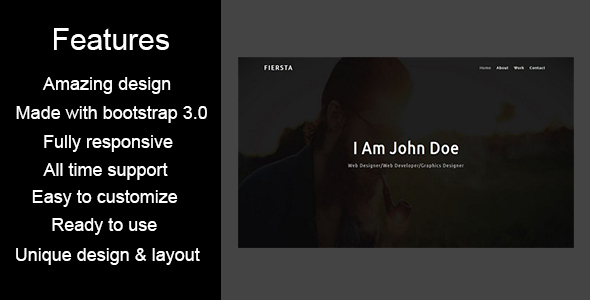 FIERSTA-Personal / Portfolio HTML5 Template - Personal Site Templates