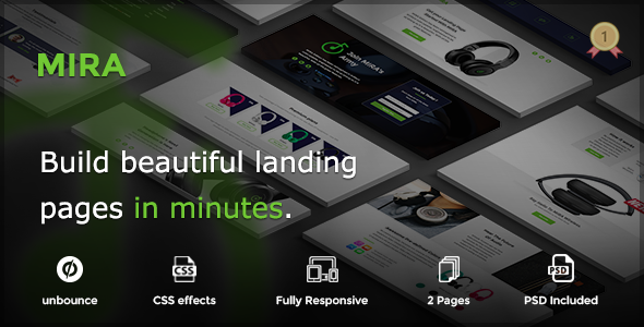 MIRA – Marketing Multipurpose Unbounce Landing Page