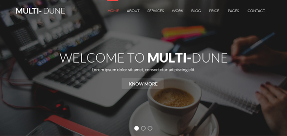 Multi-Dune :: A Multipurpose Minimal One Page HTML Template for all Businesses