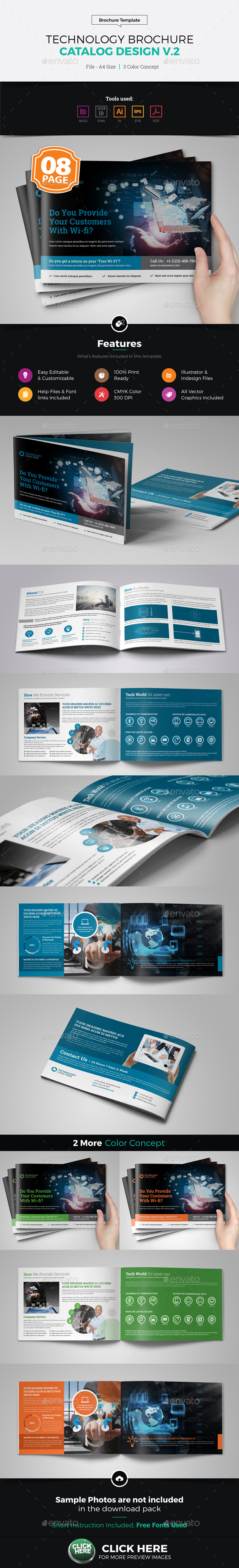 Technology Brochure Catalog Template v2 - Corporate Brochures