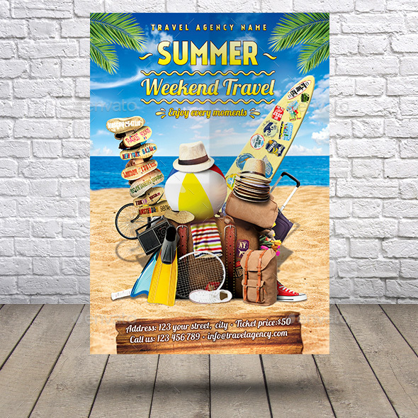 Summer Weekend Travel Flyer - Holidays Events