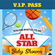 All Star Baby Shower Invitation Ticket Template - GraphicRiver Item for Sale